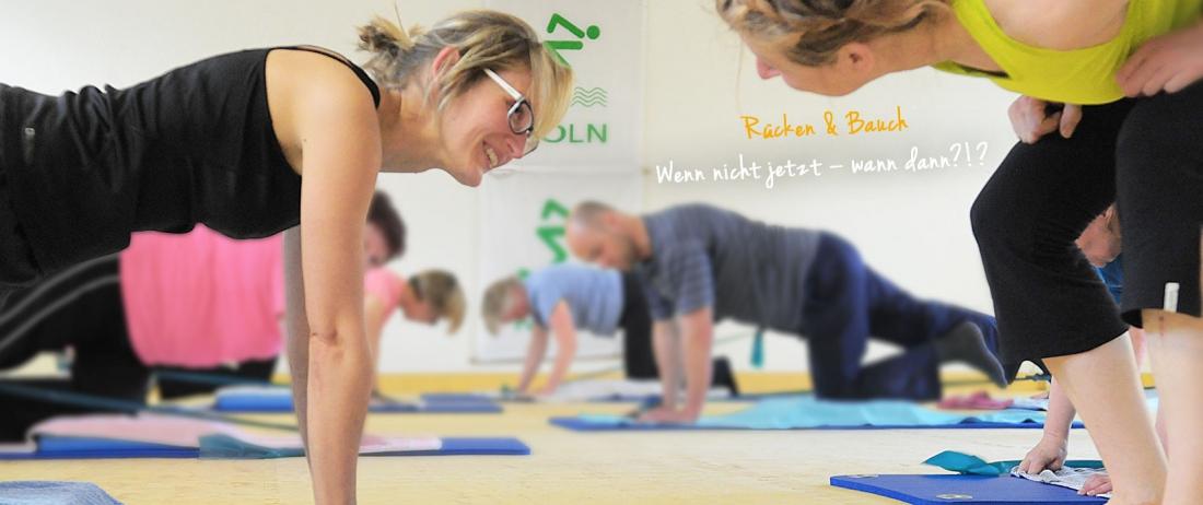 Bauch und Rücken Fitness Kurse in Köln